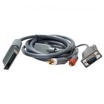 Cabo Av Com Áudio Para Ligar X-box 360 Em Monitores Vga