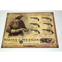 Tsn1743 Letrero Lamina Decorativa Smith & Wesson Firearm