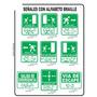Señalización Industrial, Avisos, Señales Seguridad. Braille