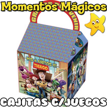 10 Cajita Toy Story Valijita Bolsita Golosinera + 7 Juegos