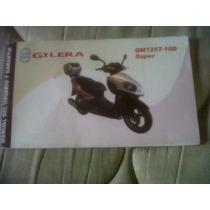 Gilera Qm125t Manual Del Usuario Original !!!!!!!!