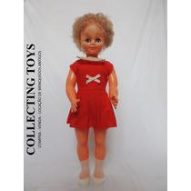 Boneca Antiga De Plástico Boolha - 50 Cm - Anos 80 - Linda!