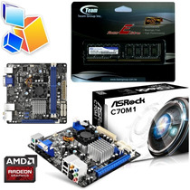 Combo Amd Asrock C70m1 Dual Core + 4gb Ddr3 1600mhz + Video