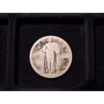 Usa 1/4 Dolar Liberty Eeuu Plata 900 Año19?? Cuarto