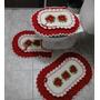 Jogo De Banheiro 3 Peças Em Crochê Feito A Mão