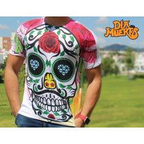 Playeras Y Blusas Estampadas - Día De Muertos