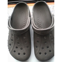 Sandalia Crocs Marron Clasica Dama Caballero Talla 40 Usado