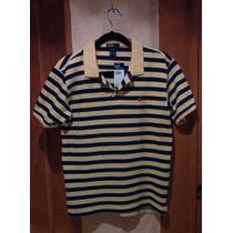 Polo By Ralph Lauren 100% Original A Rayas Amarillo Con Azul