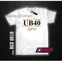 Remeras Estampadas Reggae Ub40 Gira 1980 Dtg Frente Y Dorso