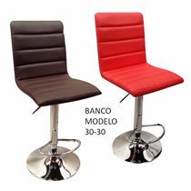 Banco Moderno, Giratorio, Altura Ajustable, Varios Colores