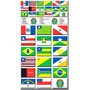 Cartela 36 Bandeiras Estados Região Norte Nordeste Do Brasil
