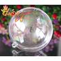 Esfera De Acrílico Transparente 7cm Diametro