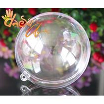 Esferas De Acrílico Transparente 7cm Diametro