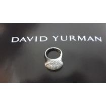 David Yurman Anillo En Plata .925 Y Diamantes 1 Ct.