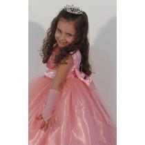 Vestido Festa Rosa Barbie Realeza Formatura Dama Casamento