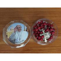 Rosario Papa Francisco Con Aroma Petalos De Rosa