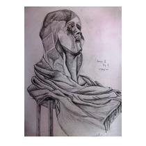 La Llorona_grafito_70x50 Cm