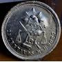 Moneda 25 Centavos 1884 Mexico Balanza Plata Original
