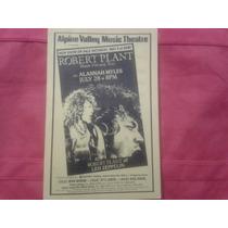 Flyer Robert Plant Manic Nirvana Tour