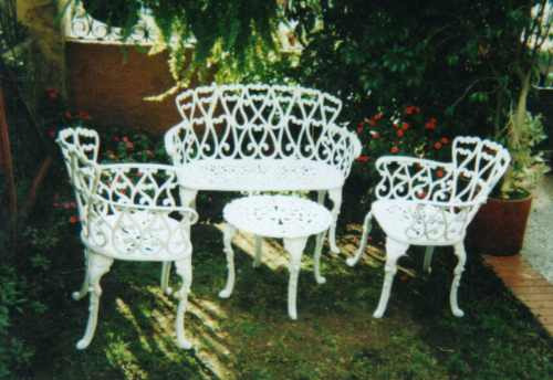 Juego de sala para exterior jardin terraza en for Muebles de terraza y jardin