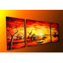 Poliptico Cuadro Pintura Africanas