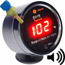 Kit Medidor Temperatura Água Digital Carro Sensor Copo 52mm