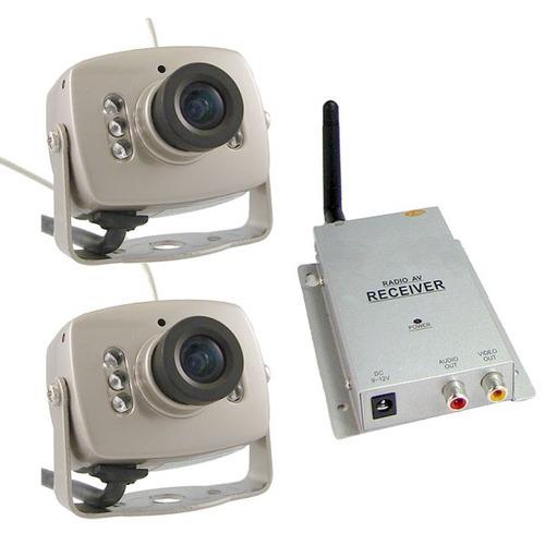 Kit x2 mini camaras inalambricas infrarojas espia for Camara vigilancia inalambrica
