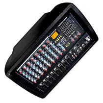 Mezcladora Amplificada 8 Canales 2200w Efectos Mp3 Ecualiza