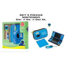 Envio Set 5 Piezas Nintendo Ds, Dsi, Dsi Xl Monster Estuche