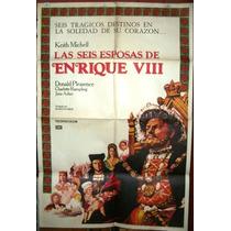 Enrique Vlll Donald Pleasance Afiche Cine Orig 1972 N529