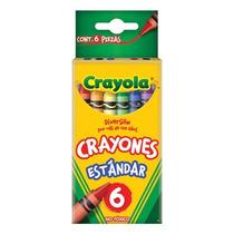 Crayones Estándar 9.21 Cmx.7.9 Cm 6pz1 Caja Con 6 Piezas