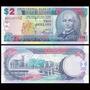Billete De Barbados 2 Dollars Banknote Año 2007