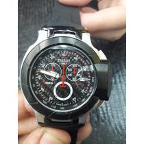 Relógio Masculino Tissot T Preto 100% Funcional Vidro Safira