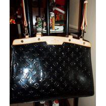 Bella Cartera Louis Vuitton Original Patente Y Cuero