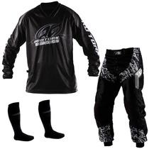 Kit Conjunto Calça Camisa Insane Pro Tork + Meião Motocross