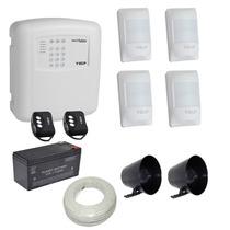 Kit Alarme Residencial E Comercial Ecp 4 Sensores Com Fio