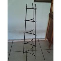 Coluna Suporte De Ferro Antigo Para Panelas (only Wood)