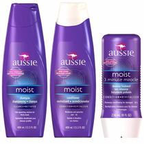 Kit Aussie Moist Shampoo E Condicionador E 3 Minute Miracle