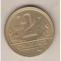 L25 - 2 Dois Cruzeiros 1956 Moeda Linda E Rara R$ 180,00