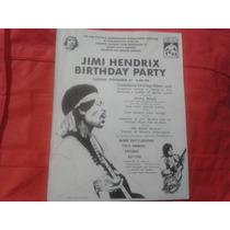 Flyer Jimi Hendrix Birthday Party