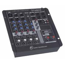 Mesa De Som Mixer Starmix Efeito Fx4002 Usb Frete G 12x