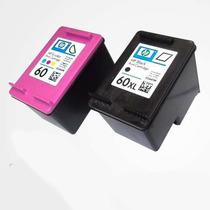 Kit Cartuchos 60 Xl Preto E 60 Color D110 D1660 + Tintas