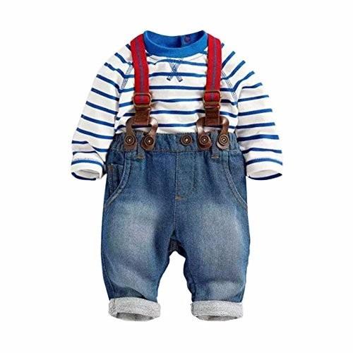 Conjunto Bebê Com Calça Suspensório Bebê 3 Peças Menino - R  99 9f0422ee780f