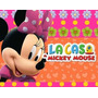 Kit Imprimible Minnie Rosa En La Casa De Mickey Mouse