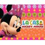Kit Imprimible Minnie Rosa En La Casa De Mickey Mouse