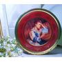 Antigua Caja De Lata Decorada Con Pinturas Impresionistas