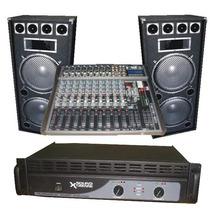 Combo De Sonido Completo 2 Columnas De 15 Potencia Y Consola