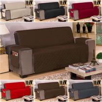 Capa Protetor Sofa 3 Lugares Microfibra Varias Cores Objetos