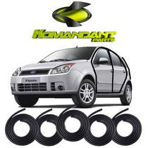Kit Borracha Porta E Mala Fiesta Hatch Sedan 03 A 13 - 5 Pçs