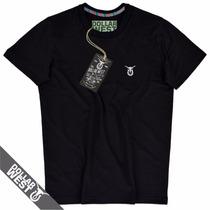 Camisa Camiseta Gola O Tecido 100% Algodão Grife Original
